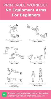 beginners workout plan for at home 17 beste idee 235 n over beginner arm oefeningen op pinterest