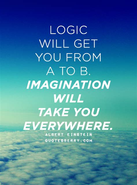 Getting It From Everywhere by Logic Will Get You From A To B Imagination Will