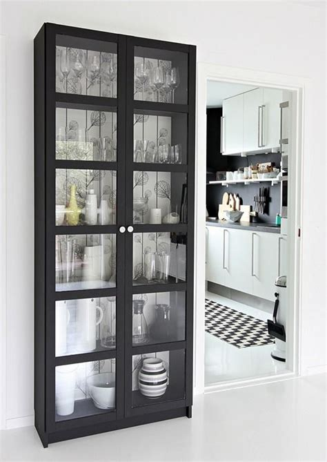 billy bookcase with glass doors old billy bookcase made new again in matte black with ferm