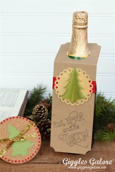 diy christmas wine bottle gift tags