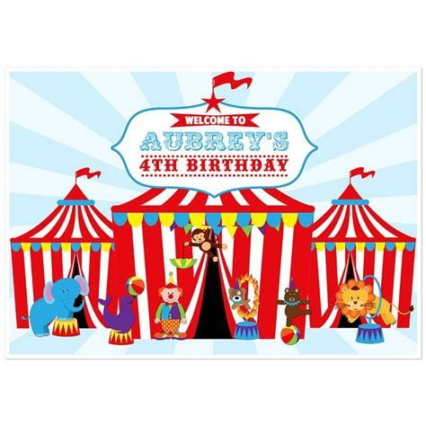Table Tent Printing Circus Tent Carnival Dessert Cake Table Personalized Party