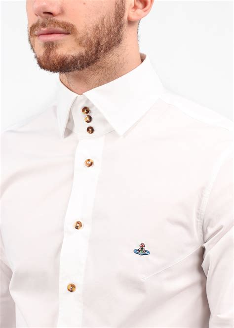 Button Collar Shirt vivienne westwood 3 button collar shirt white ss14