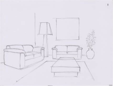 how to draw a couch easy oyee ihiiir how to draw a simple living room