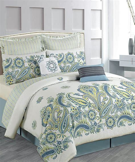 blue paisley comforter set for the home pinterest