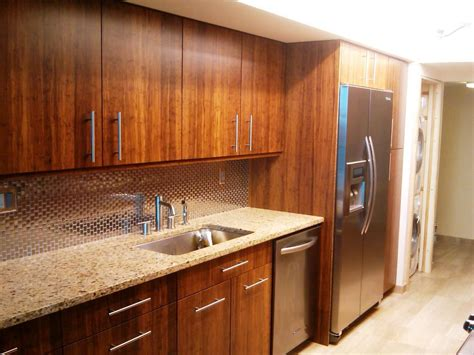Home Remodeling White Cabinet Bamboo Floors Others