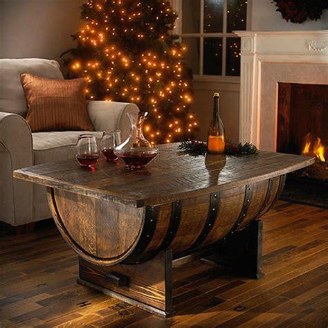 Oak Whiskey Barrel Coffee Table Handmade Vintage Oak Whiskey Barrel Coffee Table The Green