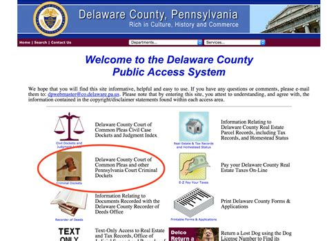 Delaware County Common Pleas Court Search How To Pre Screen Tenants Using The Delaware County Access System