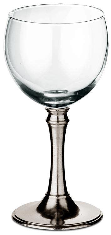 bicchieri ballon bicchiere ballon vetro tosca cm h 16 x cl 25 metallo