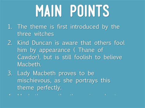 5 major themes in macbeth copy of macbeth by lamaj p