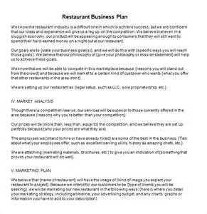 business plan of template modele business plan restaurant document