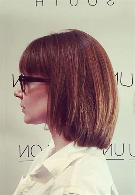 Bob Layered Cut Hairstyle With Bangs Hairstyle 2013 by With Chin Length Hairstyles Hairstyles