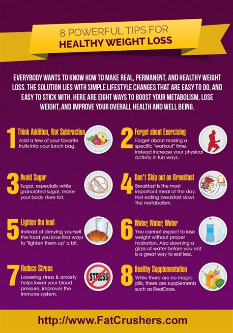 Free Weight Loss Tip Leave The by Infographic 8 Healthy Weight Loss Tips To Inspire You