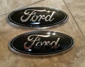 Ford Tailgate Emblem 2004 2014 Ford F150 Grill Tailgate Custom Gloss Black