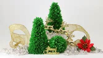 Easy tabletop paper christmas tree youtube
