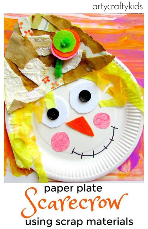 paper plate scarecrow craft paper plate scarecrow crafts paper and kid