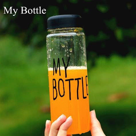 My Bottle Infused Water My Bottle Pouch my bottle 500 ml sport fruit lemon juice bottle infuser clear plastic water bottle in
