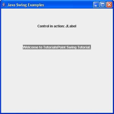 jlabel in java swing exle swing jlabel class