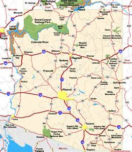 map of arizona map pictures