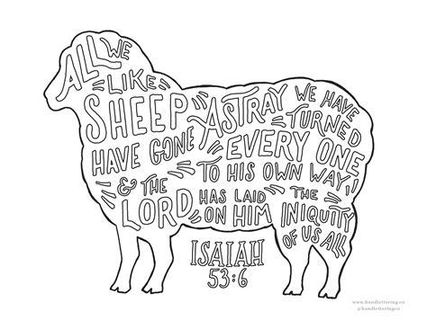 Isaiah 6 Coloring Page by Isaiah 53 6 Dibujos Bible Bible