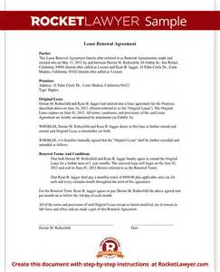 Home Lease Renewal Letter Lease Renewal Agreement Form Rental Lease Renewal With Sle