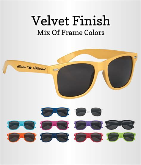 Wedding Sunglasses Favor Velvet Finish   FREE Proofs & No