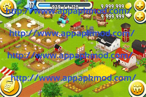 android game mod paradise hay day hay day mod apk v1 19 88 9 99 million gold and diamonds