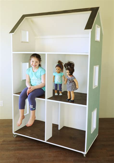 plans for american girl doll house ana white three story american girl or 18 quot dollhouse diy projects