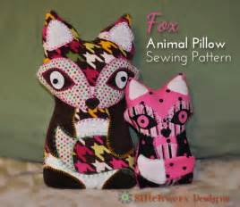 fox animal pillow sewing pattern stitchwerx designs