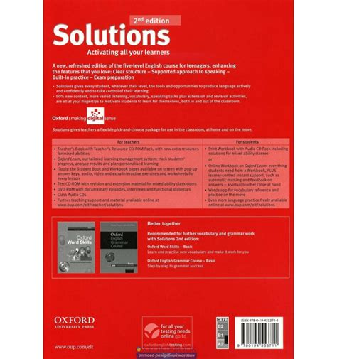 solutions pre intermediate students book 846738199x купить solutions pre intermediate second edition teacher s book w