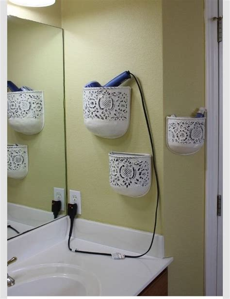 bathroom tidy ideas tidy up your bathroom by re purposing wall flower pots to store your products smart