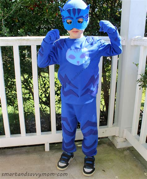 Jubah Kostum Pj Mask Catboy completeddiy pj masks catboy costume diy pj masks catboy