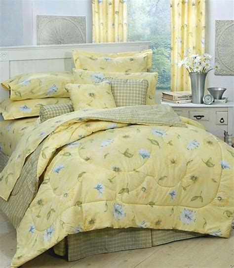 yellow comforter twin details about karin maki laura yellow daisy floral