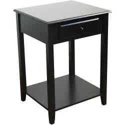 Black End Tables End Table With Drawer Black Walmart