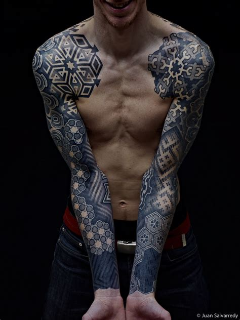 geometric sleeve tattoo geometric tat fresh ideas