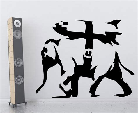 Monkey Wall Sticker bomb elephant from banksy on your wall it 180 s possible