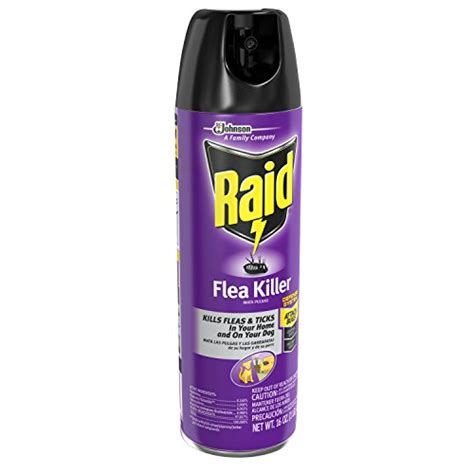 raid flea killer for home and dogs 16 ounce 6 pack