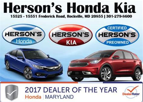 Kia Dealer Frederick Md Hersons Honda Kia Rockville Md 20855 Car Dealership