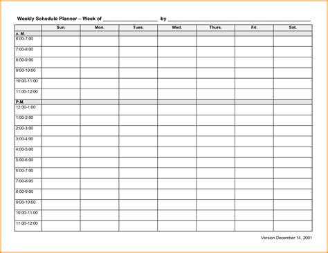 week work schedule template letterhead template sle
