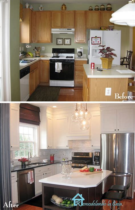 before and after kitchen makeovers pretty before and after kitchen makeovers
