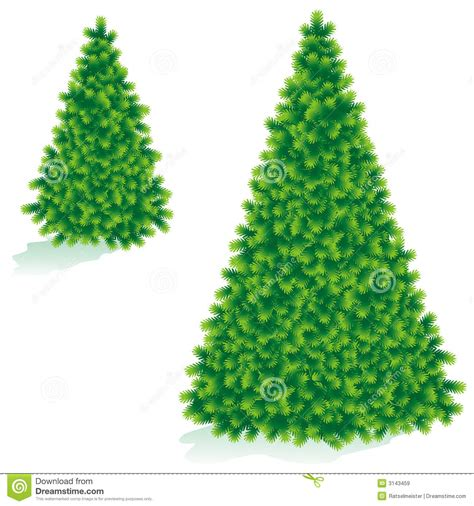 christmas tree of two sizes royalty free stock images