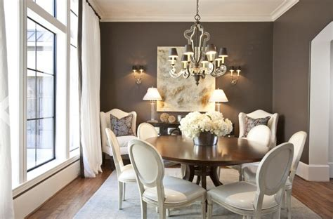 Gray Dining Room by Drapery Panels For A Gray Dining Room Driven By Decor