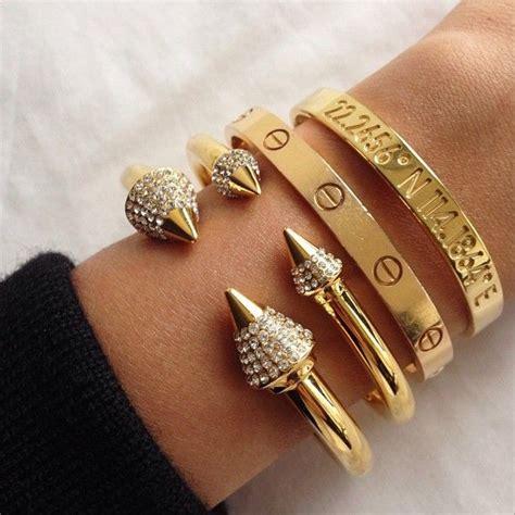 Accessories Gold Bracelet gold stacks cartier coordinates bracelet jewels