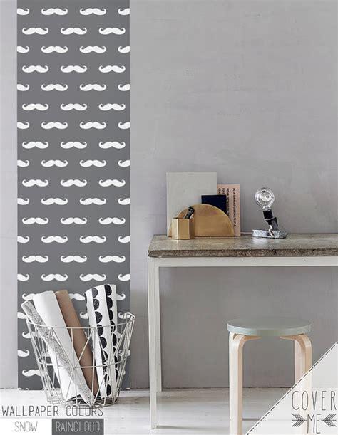 peel and stick vinyl wallpaper peel and stick vinyl wallpaper mustache print cm039