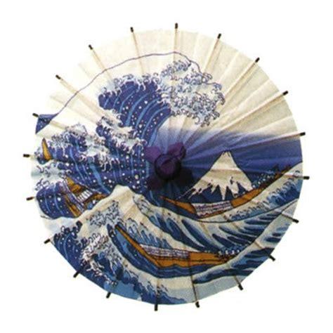 Miniature Umbrela Parasol Garden Terrarium japanese mini paper umbrella bangasa the great wave
