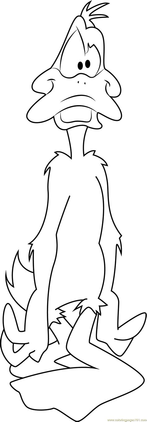 free coloring pages daffy duck daffy duck look at face coloring page free daffy duck