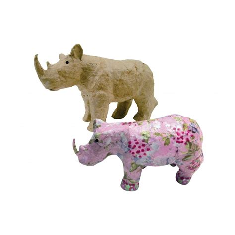 Paper Mache Animals - paper mache rhinocerous ap589 decopatch and paper