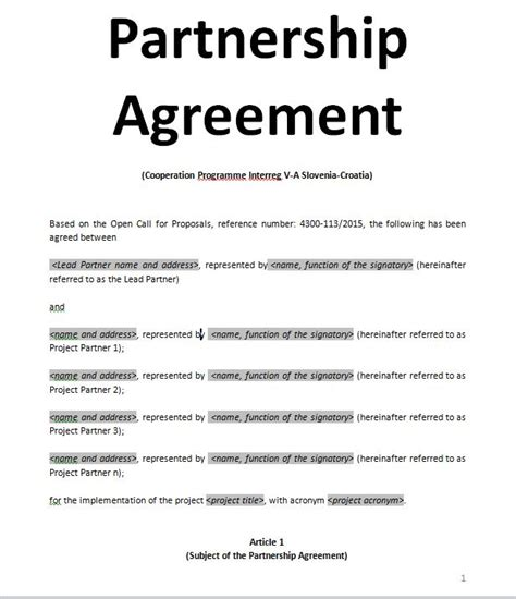partnership agreement ontario template partenership agreement bura mansiondelrio co