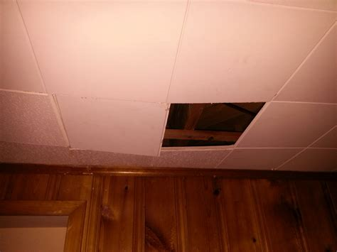 Fixing A In The Ceiling by How To Repair A Basement Ceiling S School Interlocking
