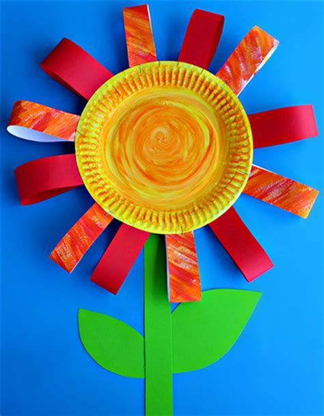 Paper Plate Flower Craft - 7 rainy day crafts to do with your today