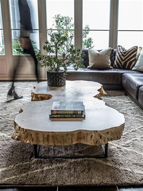tree stump live edge coffee table made of photos hgtv